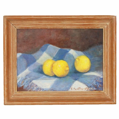 Emily Featherstone Still Life Oil Painting with Lemons