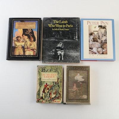 "Early Reprint ""The Secret Garden"" by Burnett with Other Children's Books"