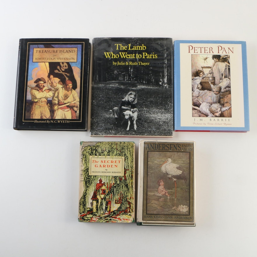 "Early Reprint ""The Secret Garden"" by Burnett with Other Children's Books"