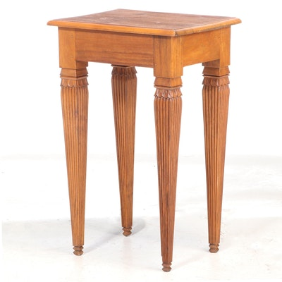 Asian Carved Hardwood Side Table