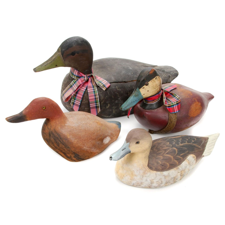 Waterbirds and Decoys, Featuring Signed 1985 Hand-Crafted Briley Co. Pintail Hen