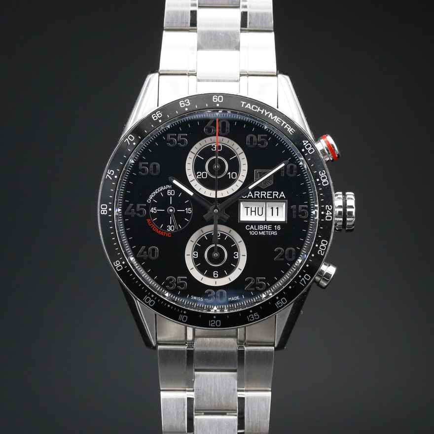 TAG Heuer Carrera Calibre 16 Stainless Steel Chronograph Wristwatch
