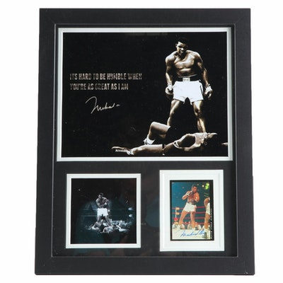 Muhammad Ali Signed Classic Boxing Card #O22/300 in Framed Display, COA