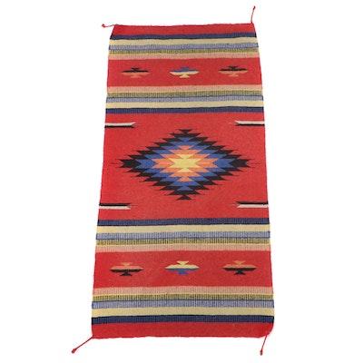 5'4 x 2'7 Southwestern Style Woven Saddle Blanket