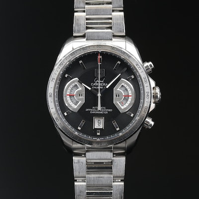 TAG Heuer Grand Carrera RS Stainless Steel Automatic Wristwatch