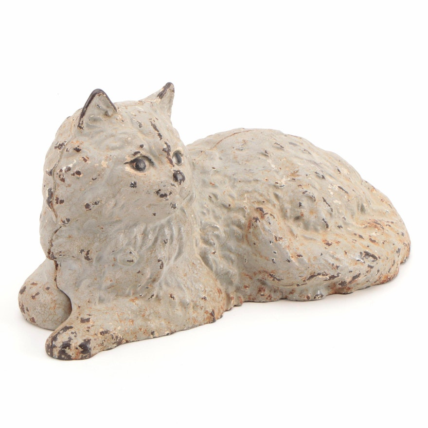 Hubley Cast Iron Cat Doorstop, Early 20th Century