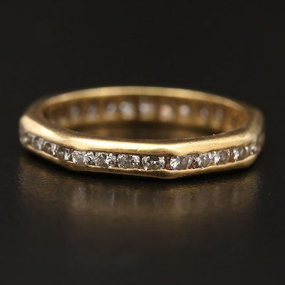 18K Diamond Channel Eternity Band