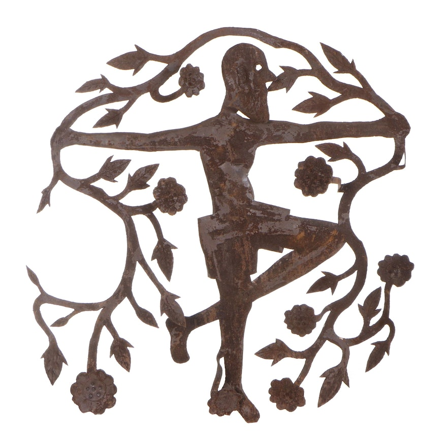 Gabriel Bien-Aime Haitian Metal Art Sculpture of a Man