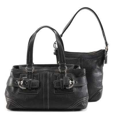 Coach Pebble Leather Sling Bag and Satchel