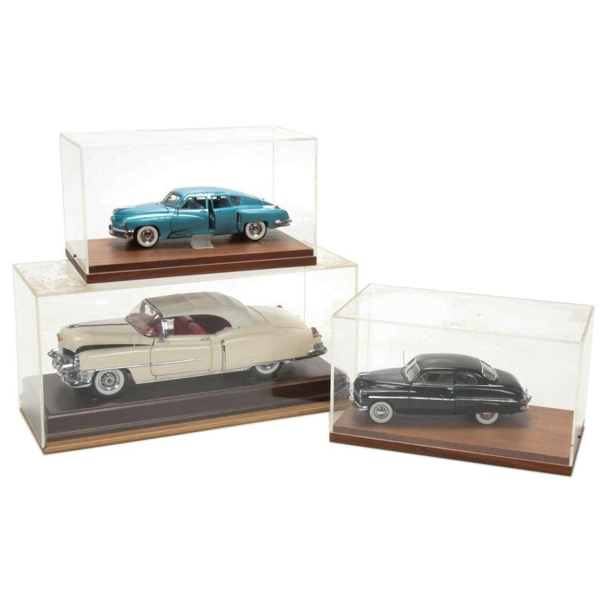 """Franklin Mint """"Precision Models"""" Car Displays"""
