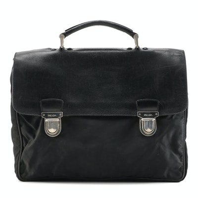 Prada Nappa Leather and Nylon Briefcase