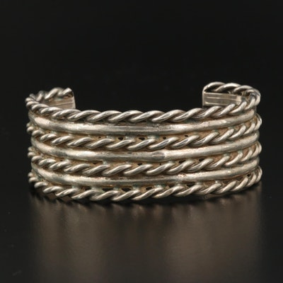 Sterling Twisted Wire Cuff