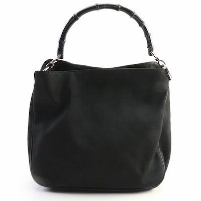 Gucci Nylon and Leather Two-Way Shoulder Bag
