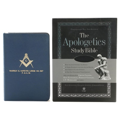 """The Apologetics Study Bible"" with ""The Bible and King Solomon's Temple"""