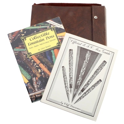 "Pen Books and Pen Binder Including ""Collectible Fountain Pens"" by Glen Bowen"