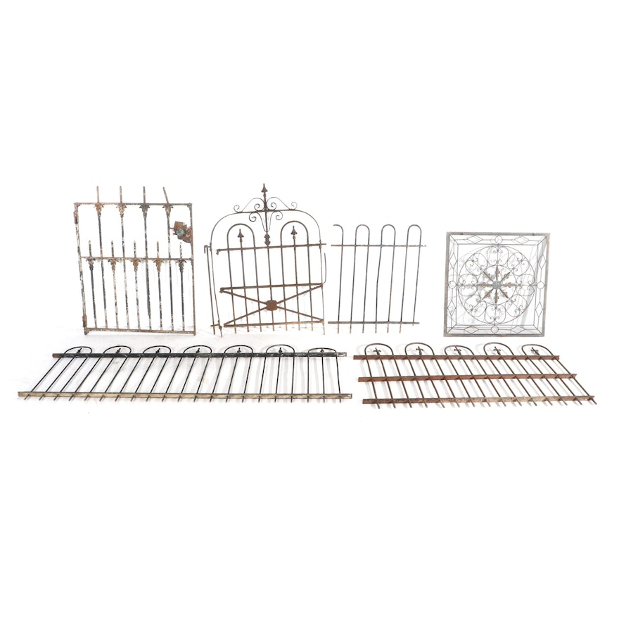 Victorian Wrought Iron Fence Panels  and Gates, Late 19th to Early 20th Century