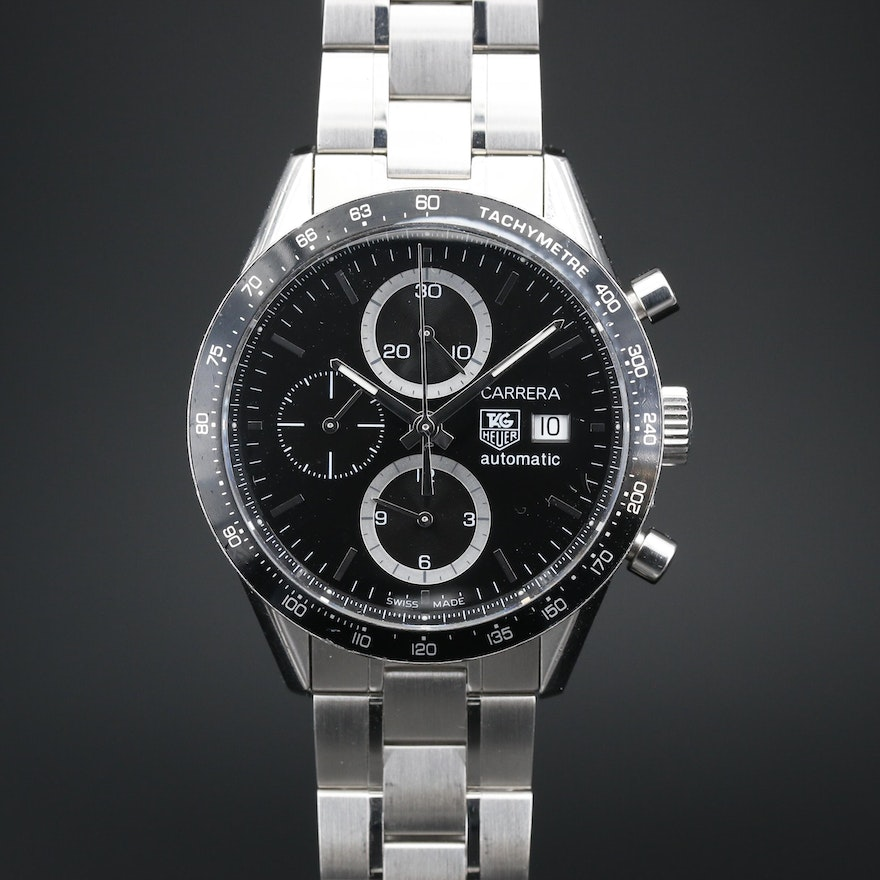 TAG Heuer Carrera Chrono with Date Stainless Steel Automatic Wristwatch