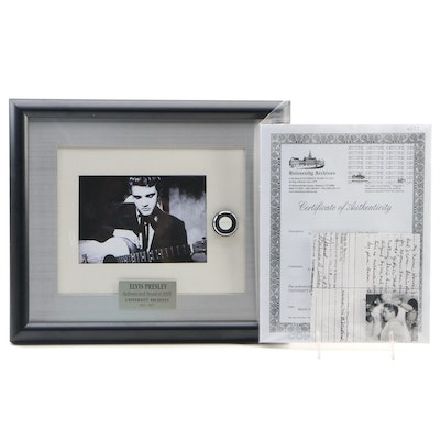 "Elvis Presley Framed Authenticated Strand of Hair, ""Hound Dog Hair,"" 1935-1977"