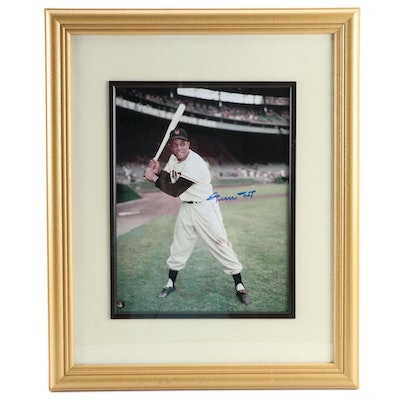 Willie Mays Signed New York Giants Baseball Framed Photo Print, Say-Hey COA