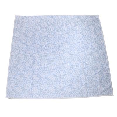 Jacquard Floral Design Poly-Cotton Coverlet