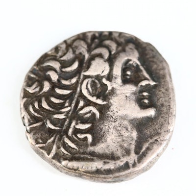 Ancient Egypt AR Tetradrachm Coin of Ptolemy XII, ca. 68 B.C.