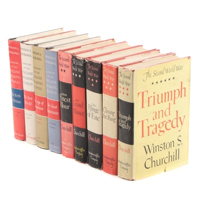 "Winston S. Churchill History Books Including Complete ""A History of the English"""