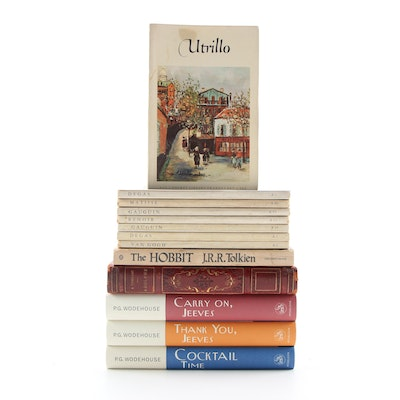 """The Pocket Library of Great Art"" with Fiction Books by Wodehouse and Tolkien"