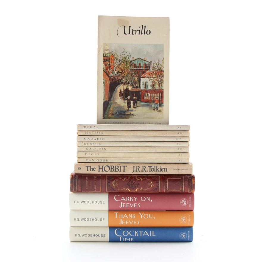 """""""The Pocket Library of Great Art"""" with Fiction Books by Wodehouse and Tolkien"""