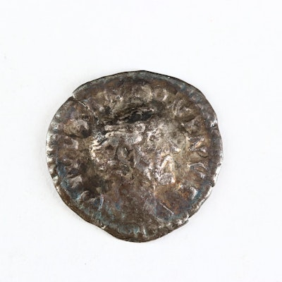 Ancient Roman Imperial AR Denarius Coin of Antoninus Pius, ca. 158 A.D.