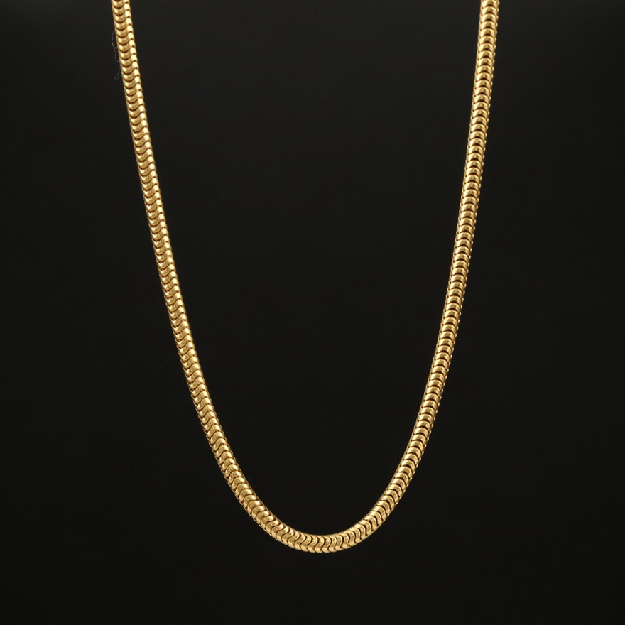 Veronese Sterling Snake Chain Necklace