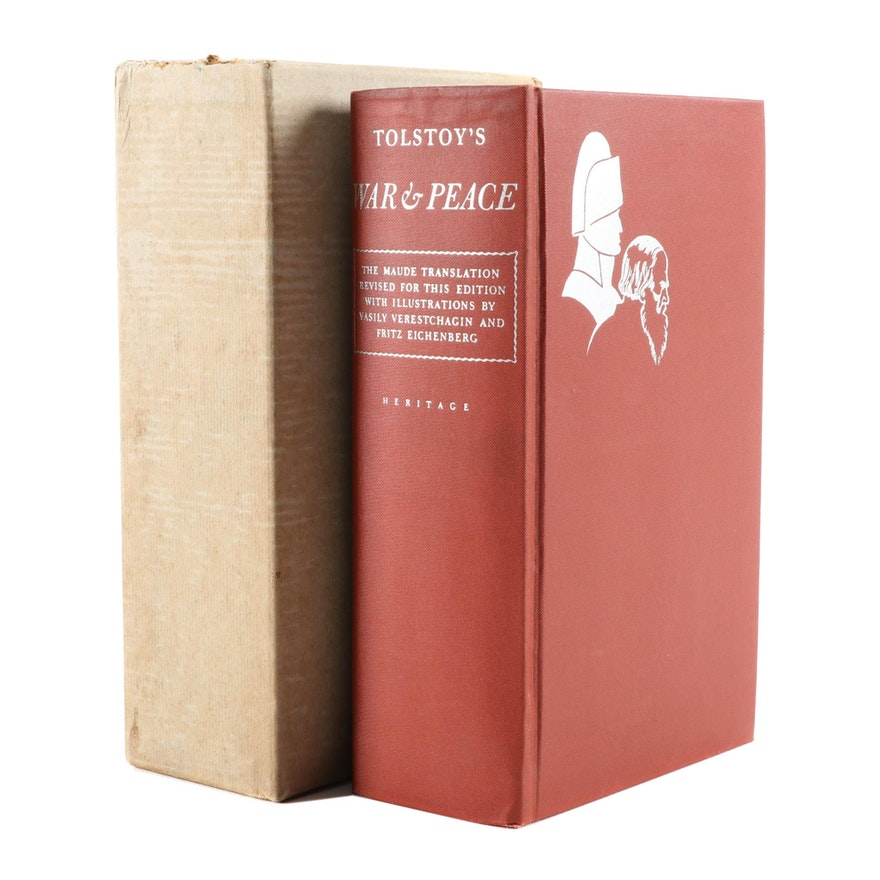 """""""War and Peace"""" by Leo Tolstoy with Slipcase, 1938"""