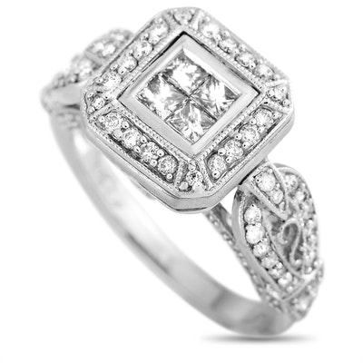 LB Exclusive 14K White Gold 1.00 ct Diamond Ring