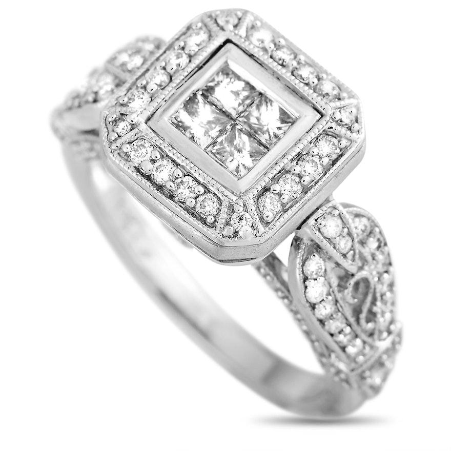 LB Exclusive 14K White Gold 1.00 ct Diamond Ring