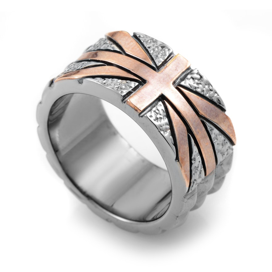 Stephen Webster Alchemy in the UK Sterling Silver Studded Union Jack Ring