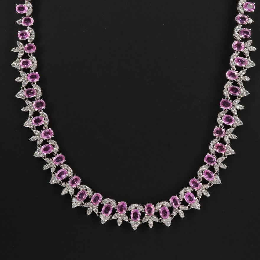 14K Sapphire and 5.25 CTW Diamond Necklace