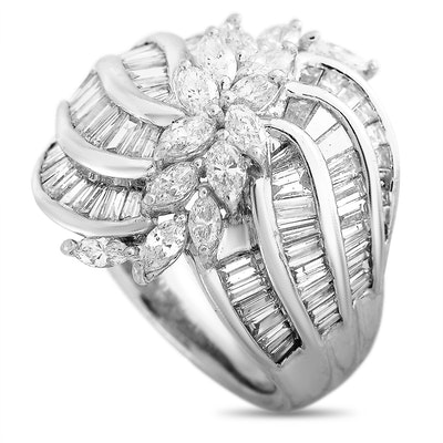 LB Exclusive Platinum 3.04 ct Diamond Ring