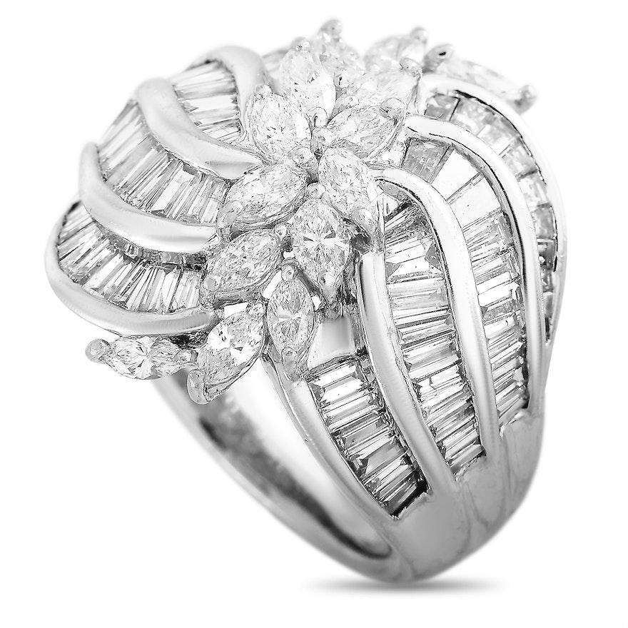 LB Exclusive Platinum 3.04 ct Diamond Ring