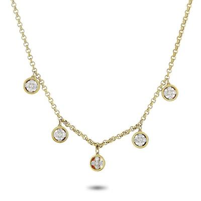 14K Yellow Gold 1.01 ct Diamond Necklace