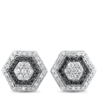 LB Exclusive 14K White Gold 0.50 ct Diamond Stud Earrings