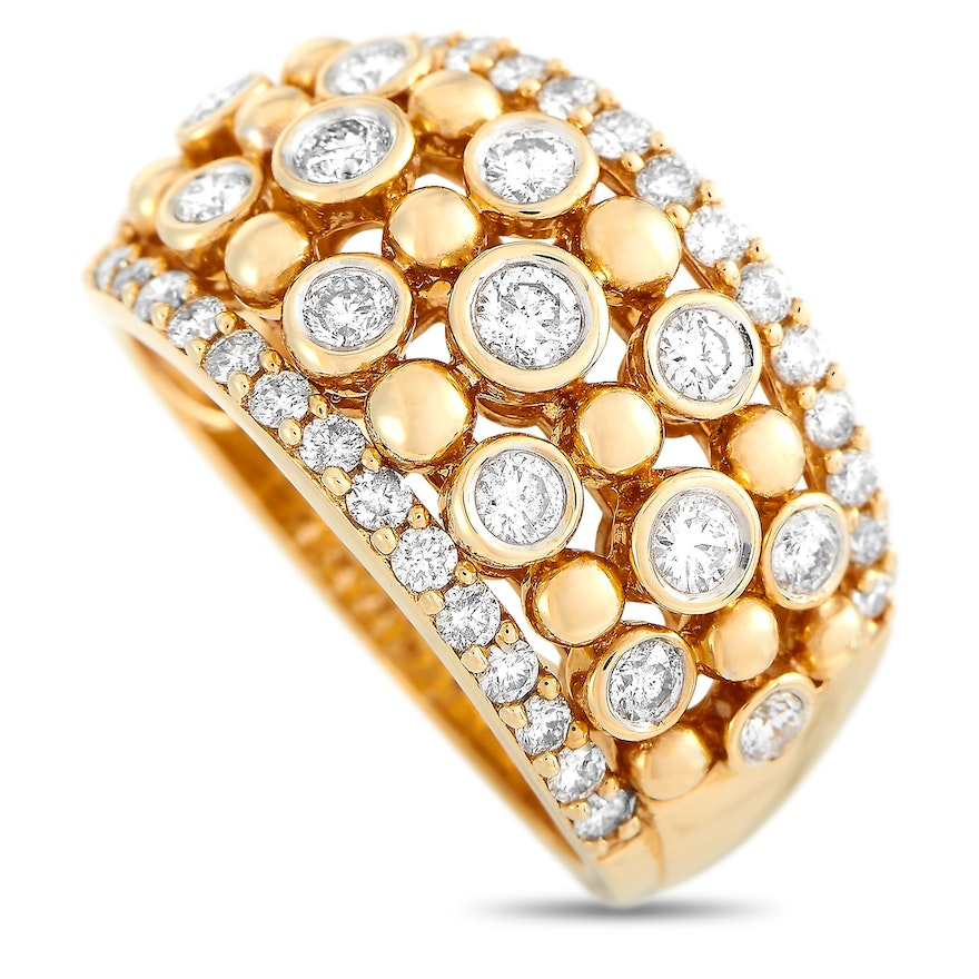 LB Exclusive 14K Yellow Gold 1.00 ct Diamond Ring