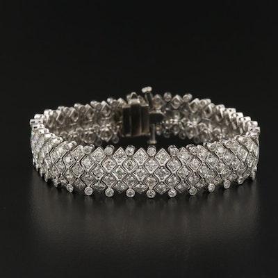18K 8.98 CTW Diamond Multi-Row Milgrain Bracelet