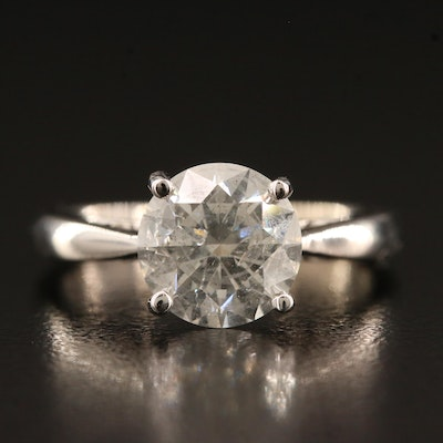 18K 2.12 CTW Diamond Ring with Peak A Boo Diamonds