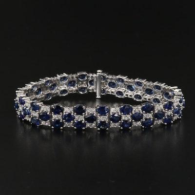 18K 4.56 CTW Diamond and Sapphire Bracelet