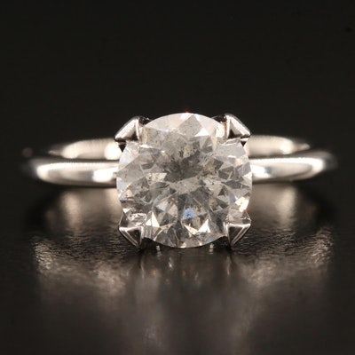 18K 2.05 CT Diamond Solitaire Ring
