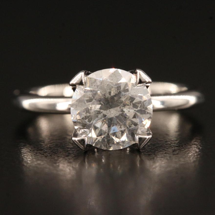 18K 2.05 CT Diamond Solitaire Ring
