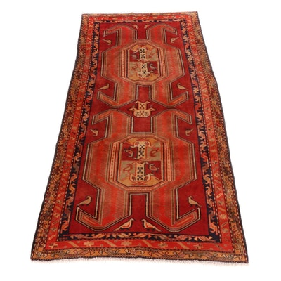 4'7 x 9'3 Hand-Knotted Northwest Persian Wide Runner, 1960s