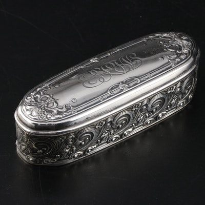 Gorham Art Nouveau Style Sterling Silver Tobacco Box