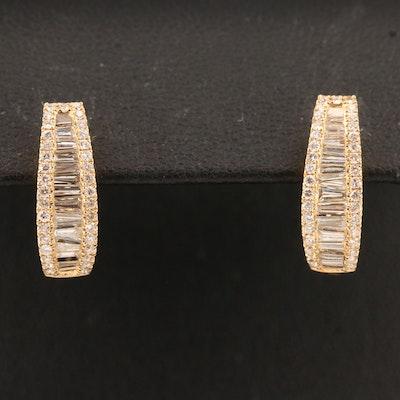 18K 1.25 CTW Diamond Huggie Earrings