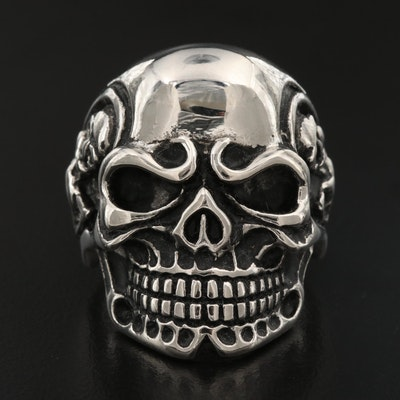 Skull and Skeleton Ring