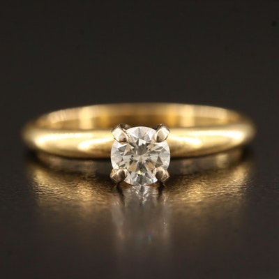 18K 0.38 CT Diamond Solitaire Ring